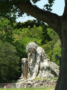 """""""Shrouded within the park of Villa Demidoff (just north of Florence, Italy), there sits a gigantic 16th century sculpture known as Colosso dell'Appennino, or the Appennine Colossus. The brooding structure was first erected in 1580"""""""