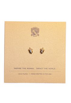 Acorn Earrings - Gold – Alpha Gam Boutique