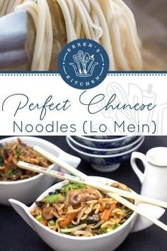 This better than takeout recipe for Perfect Chinese Noodles is a healthier version of a much loved dish. Make these at home, and you'll never go back! #perfectchinesenoodles #errenskitchen Home Recipes, Lunch Recipes, Asian Recipes, Ethnic Recipes, Lo Mein Noodles, Authentic Chinese Recipes, Whats For Lunch, Mixed Vegetables, Healthy Alternatives