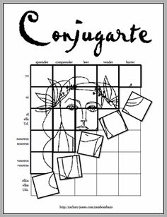 Practice Spanish present tense verb conjugations and recreate beautiful art from the Spanish-speaking world at the same time with Conjugarte! Spanish Grammar, Ap Spanish, Spanish Teacher, Spanish Classroom, How To Speak Spanish, Learn Spanish, Spanish Language, German Language, Japanese Language