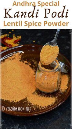 Kandi Podi / Andhra special Spice Powder Garlic Recipes, Cheese Recipes, Easy Summer Meals, Summer Recipes, Sugar Free Recipes, Baking Recipes, Recipe Without Onion, Deep Fried Recipes, Good Food