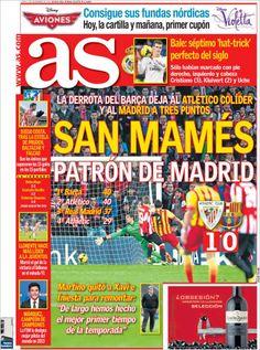 Los Titulares y Portadas de Noticias Destacadas Españolas del 2 de Diciembre de 2013 del Diario AS ¿Que le pareció esta Portada de este Diario Español?