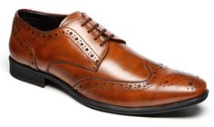 Mens Leather Wedding Smart Dress Lace Up Brogues Formal Tan Shoes Size 7-12 | eBay