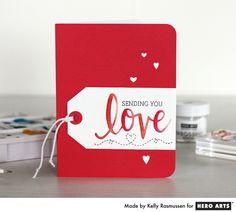 Sending You Love by Kelly Rasmussen for Hero Arts - Scrapbook.com