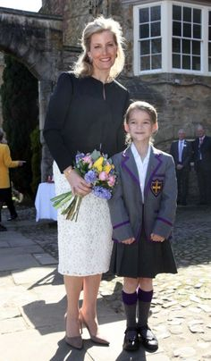 The Royal Watcher: The Countess of Wessex visited the Durham Chorister School to mark 600th anniversary. Durham, England, 19 April 2016