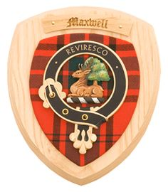 Maxwell Clan Crest Wall Plaque