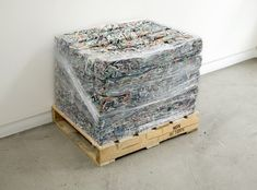 You said I was an empty page to you. Ryan Gander, It Works, Decorative Boxes, Objects, Shredded Paper, Le Corbusier, Empty, Pallet, Industrial
