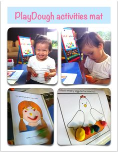 Playdough activity mat .. Thanks for the free printable <3