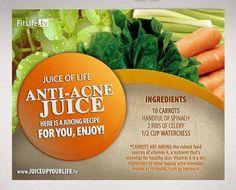 The Anti-Acne Juice Recipe #carrots #spinach #celery #watercress
