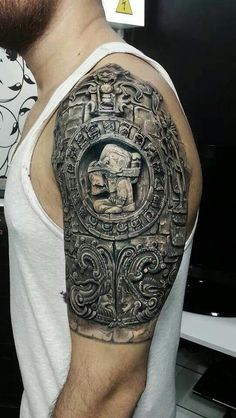 Check Out 25 Best Aztec Tattoos Designs.The meanings and designs of Aztec tattoos are a very complex concept and that is why if you are considering getting one, then you should read this article to get the information you want. Mayan Tattoos, Aztec Tattoo Designs, Tattoos Geometric, Tribal Tattoos For Men, Cool Tattoos For Guys, Viking Tattoos, Tattoo Designs For Women, Turtle Tattoos, Tattoos Arm Mann
