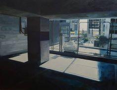"Saatchi Art Artist Matthew Carter; Painting, ""Car Park 10"" #art Urban Painting, Car Painting, Oil Painting On Canvas, Matthew Carter, Buy Prints, New Art, Saatchi Art, Original Paintings, Car Park"