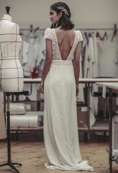 bohemian trouwjurk #lauredesagazan #bohobride #bohochic #vintagewedding