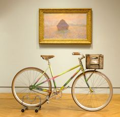 Art bike by Handsome Cycles at the Minneapolis Institute of Arts- Inspired by a Monet painting