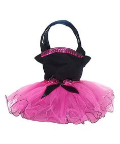 Love this Black & Fuchsia Tutu Dress Bag on #zulily! #zulilyfinds