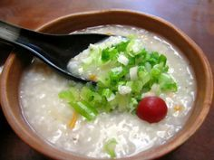 Congee is a type of rice porridge eaten in many Asian countries.  This recipe is Chinese.  Its easiest made in a rice cooker, but a pot will do as well.  On a personal note: congee is also a popular late night eat here in Sydneys Chinatown.  From: wedbee.blogspot.com.