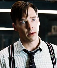 He's using the puppy eyes. I have no resistance to the puppy eyes. Benedict Cumberbatch as Alan Turing, The Imitation Game