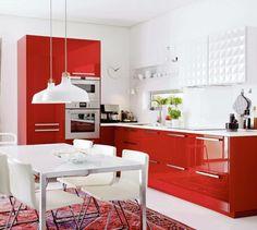 metod küchen hochglanz rot weiß