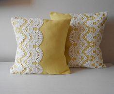 Yellow Pillow Cowl Set Of Two Ornamental Throw By Mylacyboutique , gelbes kissen-hauben-set von zwei dekorativem wurf durch mylacyboutique Yellow Pillow Cowl Set Of Two Ornamental Throw By Mylacyboutique , Bow Pillows, Diy Throw Pillows, Sewing Pillows, Throw Pillow Sets, Burlap Pillows, Bolster Pillow, Yellow Pillow Covers, Diy Pillow Covers, Yellow Pillows