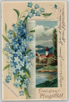 Pfingsten - Litho 1913 AK: Ansichtskarten-Center Onlineshop