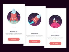 Onboarding Screen designed by hamam zai. Connect with them on Dribbble; Web Design, Website Design Layout, App Ui Design, User Interface Design, Flat Design, Ui Design Tutorial, Design Tutorials, Onboarding App, Card Ui