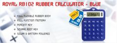 #Royal #RB102 Rubber #Calculator - Blue  Combination of convenience and flexibility. Snag our #bestseller at #affordable price of $6.99.
