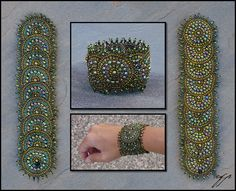"""(2010) 3.5""""x8"""", size 11 Delica beads (silver-lined matte red, silver-lined matte peach, silver-lined saffron, matte gold lined, lined wine red, matte black, lined light blue, lined dark blue), ny..."""