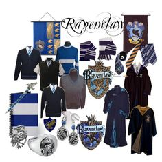 """Ravenclaw Stuff"" by fionax ❤ liked on Polyvore"