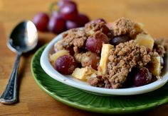 Apple and Red Grape Crisp | Baking Bites