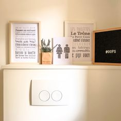 Affiche Toilettes personnalisable (wc) - L'Atelier Typodeco Champagne, Sweet Home, Gallery Wall, Kit, Frame, Blog, Phrases, Home Decor, Lingerie