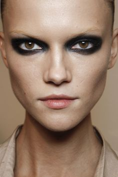 Gucci Spring 2012. http://votetrends.com/polls/369/share #makeup #beauty #runway #backstage