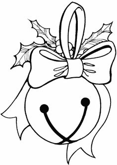christmas coloring page jingle bell coloring page - Bell Coloring Pages