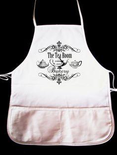 Vintage Teapot Tearoom And Bakery Apron by lesleyhornbeck, $15.00