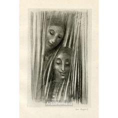 Dvě tváře za závěsem Roman Catholic, Illustration, Artist, Catholic, Artists, Illustrations
