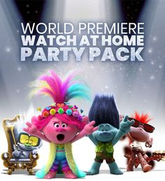 Trolls World Tour was released digitally a week ago and I have an incredible and free Trolls 2 home movie watch party kit for you! Family Movie Night, Family Movies, Party Kit, Party Packs, Party Ideas, Poppy And Branch, Red Carpet Party, Home Movies, Kinds Of Music