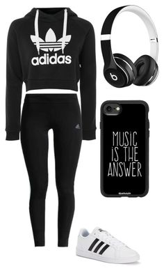 """Untitled #17"" by dadotv on Polyvore featuring adidas, Beats by Dr. Dre and Casetify"