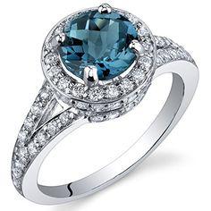 London Blue Topaz Halo Ring Sterling Silver Rhodium Nickel Finish 1.50 Carats Size 5 Peora http://smile.amazon.com/dp/B004VA94MK/ref=cm_sw_r_pi_dp_iuCPwb1W2PCD2