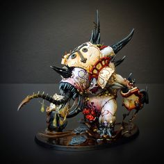Plaguebone, Nurgle Maulerfiend #Warhammer40000 #40K
