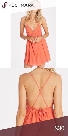 Orange billabong dress Flowy cute summer dress Billabong Dresses