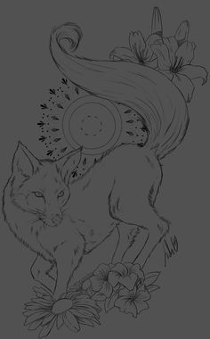 Fox [ Tattoo Design] by JulietEssence on DeviantArt