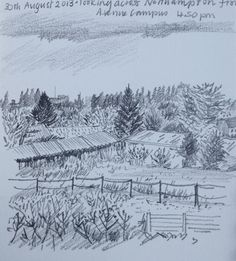 August, view across Northampton from Avenue Campus 30 August, 30th, Snow, Drawings, Sketches, Sketch, Drawing, Portrait, Draw