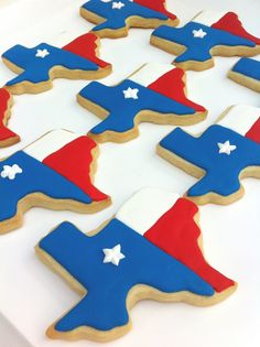 Texas State cookies for party favors