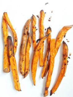 Beer-Marinated Baked Sweet Potato Fries