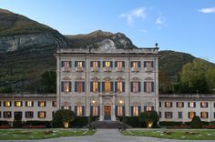 Now open in Italy: the opulent six-suite Villa Sola Cabiati on Lake Como, available exclusively to guests of the Grand Hotel Tremezzo. Lake Como Hotels, Lake Como Villas, Italian Garden, Italian Villa, Italian Courtyard, Italian Style, Mansions For Rent, Comer See, Century Hotel