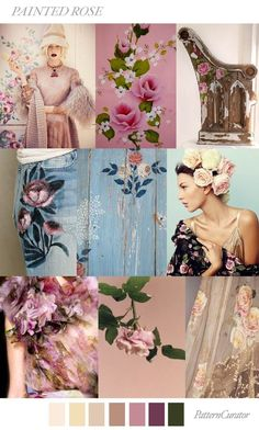 TRENDS // PATTERN CURATOR - PAINTED ROSE . SS 2018