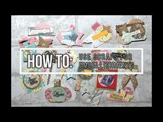 DIY EMBELLISHMENTS ** BUILDING MY STASH** ROSETTES, PAPER CLIPS & STICKERS - YouTube