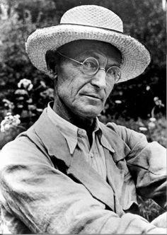Hermann Hesse gardening in Montagnola, Tessin, Switzerland