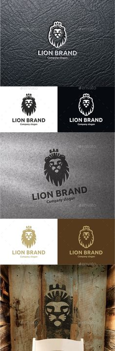 Lion Brand: Animal Logo Design Template by logobega. Lion Brand, Logo Lion, Logo Branding, Branding Design, Lion Icon, Logo Luxury, Lion Tattoo Design, Time Tattoos, Animal Logo