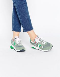 new balance 580 mint green trainers