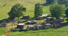 Located near Bloemfontein in South Africa, the shanty town themed luxury resort operated by Emoya Luxury Hotel and Spa looks like a slum. #travel
