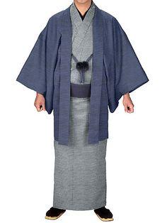 Japanisch Samue Herren Traditionell Arbeit Kimono Kleidung Vlies Brown von Japan